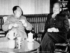 Mao Zedong meeting with Ho Chi Minh, 1958.
