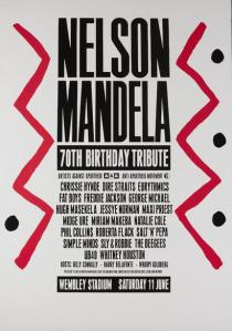 Over 72,000 people attended the AAM's 1988 birthday tribute to Mandela in London's Wembley Stadium.
