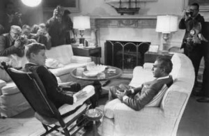 Cheddi Jagan meeting with President John F. Kennedy.