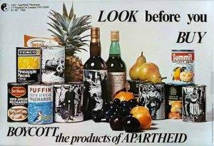 'Look before You Buy,' Anti-Apartheid Movement London, United Kingdom 1977