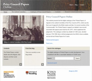 Privy Council Screen shot