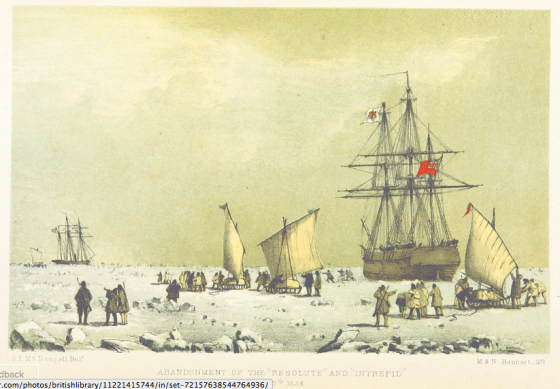 "[London, 1857] Image taken from page 464 of 'The eventful voyage of H.M. Discovery Ship ""Resolute"" to the Arctic Regions in search of Sir J. Franklin. ... To which is added an account of her being fallen in with by an American Whaler after her abandonment ... and of her [from the British Library Images Collection]"
