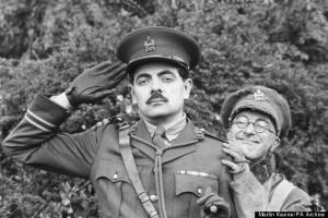 Television - BBC - Blackadder Goes Forth - Rowan Atkinson and Tony Robinson - London