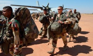French troops arrive in Bamako, Mali. Photograph: Eric Feferberg/AFP/Getty Images