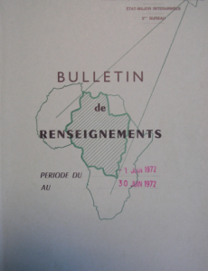French military intelligence memo at the end of the Op. Limousin, 1972 (10 T 749)