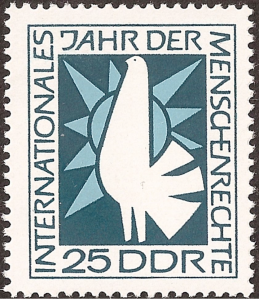 The dove representing right to peace.
