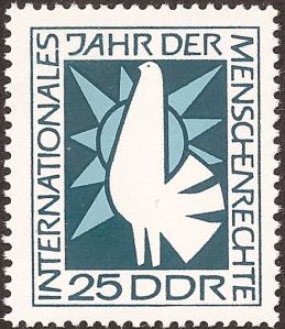 The dove representing right to peace.