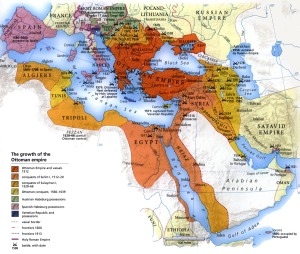 Map of the Ottoman Empire.