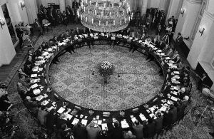 Round Table Talks, Warsaw, Poland, 1989