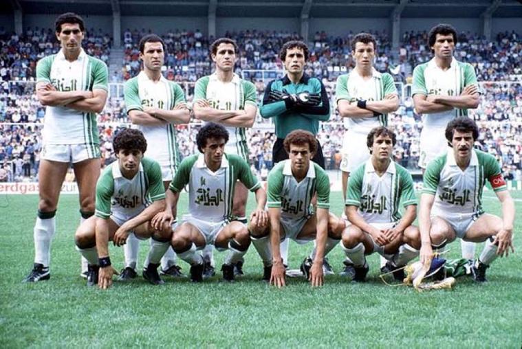 The Algerian team in 1982