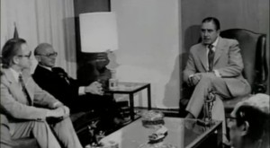 General Pinochet meeting with Milton Friedman.