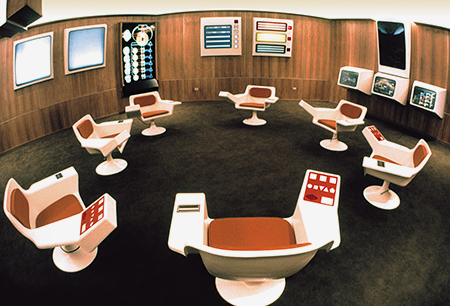 Photo of Cybersyn, Salvador Allende's socialist version of the internet.