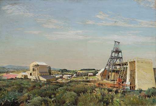 "Harold Harvey, ""The Lady Wheal Reeth Tin Mine,"" Breage, Cornwall, 1934."
