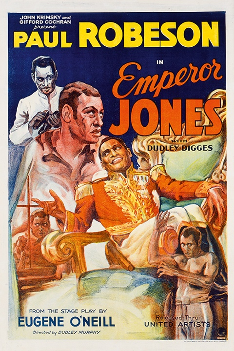 Emperor Jones (1933)  The poster for the film would, Kisch says, 'have cost a lot of time and money to produce'. It featured a painterly style. By contrast, the posters for independent films would often use only two colours and be made in a few hours. Photograph: The Separate Cinema Archive