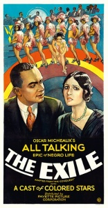 The Exile (1931)  The film's plot concerned an apparently interracial love affair, a subject considered so controversial that some posters did not feature a printer's logo as if those responsible did not want to be associated with the film. Photograph: The Separate Cinema Archive
