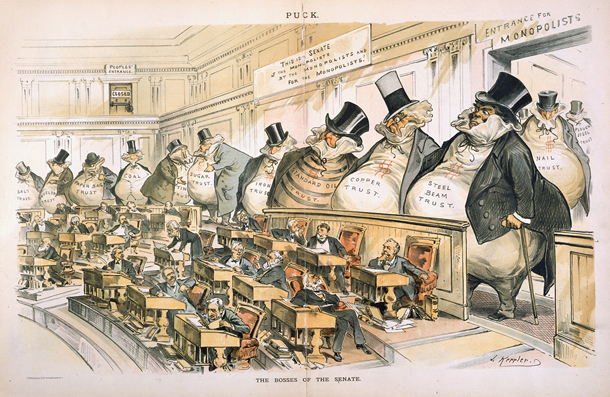 'The Bosses of the Senate,' by Joseph Keppler. Puck, 1889.