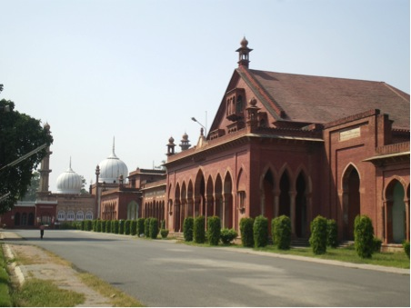 Aligarh Muslim University, founded in 1875 as the Mahomedan Anglo-Oriental College (author's collection)