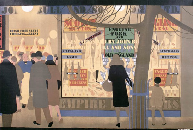 Woman Shopping at John Bull and Sons (British Empire Marketing Board, 1928), Library and Archives Canada.