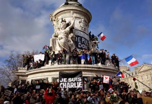 Photo from the January 11th National Unity march in Paris