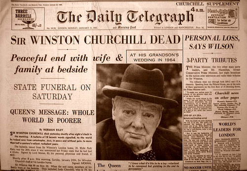 Churchill death