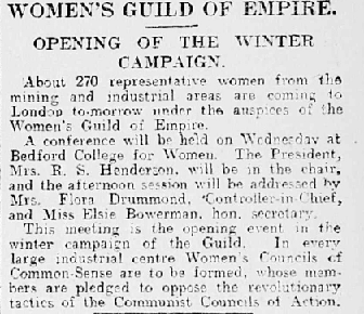 """Women's Guild of Empire."" Financial Times, 17 Sept. 1925, 6."