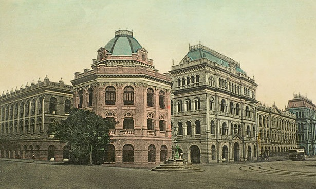 A lithograph illustration of an earlier incarnation of the Writers' Building, Kolkata. Photograph: Dinodia Photos/Alamy, BBC News.