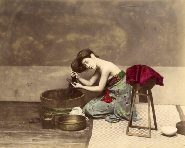 Samurai and Courtesans colour photos from 1865. Felice Beato was one of the first people to photograph the far east – and he made life bloom with colour. Here are his rare hand-coloured shots of Edo-era Japan See them at the London Photograph Fair, 23 & 24 May 2015.