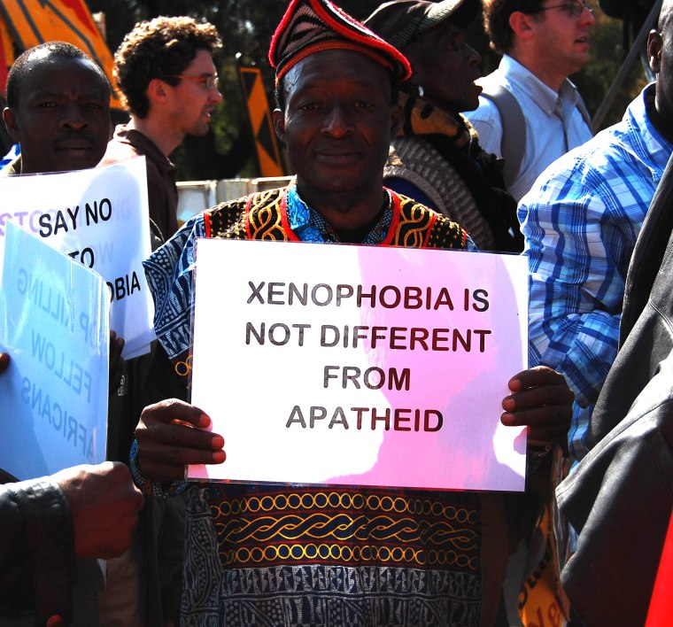 xenophobia not different from apartheid