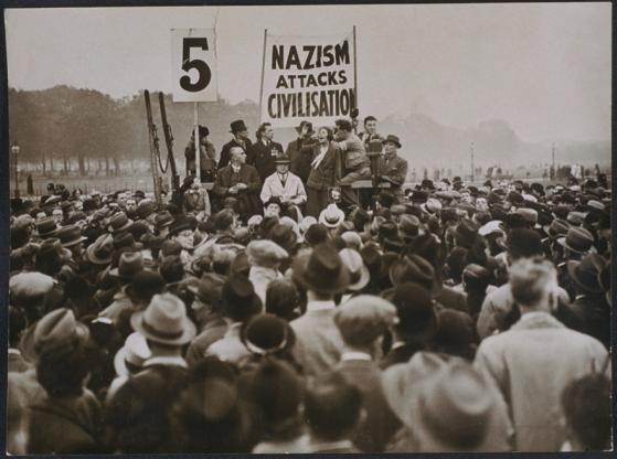 Antifascist demonstrators in London, October 1935. Photo: National Media Museum/SSPL