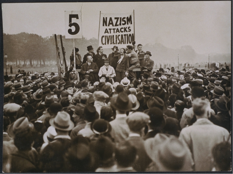 Antifascist demonstrators in London, October 1935. Photo: National Media Museum/SSPL