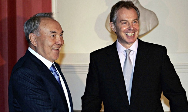 President Of Kazakhstan and tony blair