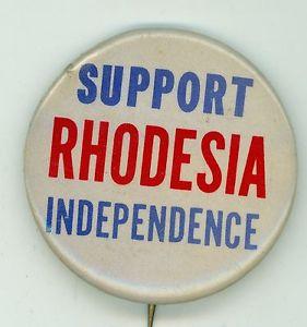 Rhodesia pinback