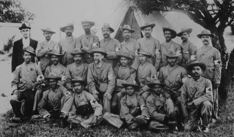 Gandhi in the Indian Ambulance Corps during the Boer War. Courtesy of the Wire.