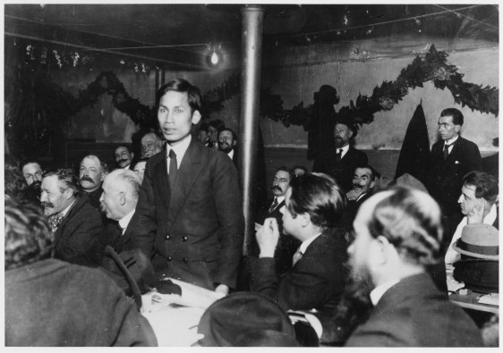 Nguyen Ai Quoc (the later Ho Chi Minh) speaking at the foundational congress of the French Communist Party, Tours, December 1920