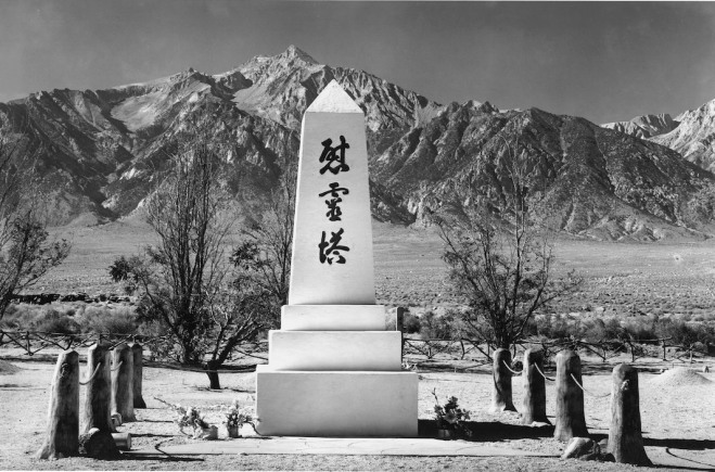 Ansel Adams, Monument in Cemetery, Mt. Williamson, 1943. Courtesy of Photographic Travelling Exhibitions.
