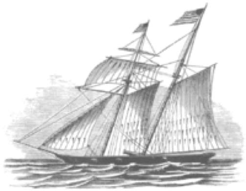 There are no surviving photos of the Sutton but she was a c. 1770 Baltimore clipper-built barque turned Sydney whaler that was fitted out like a slaver for this journey.