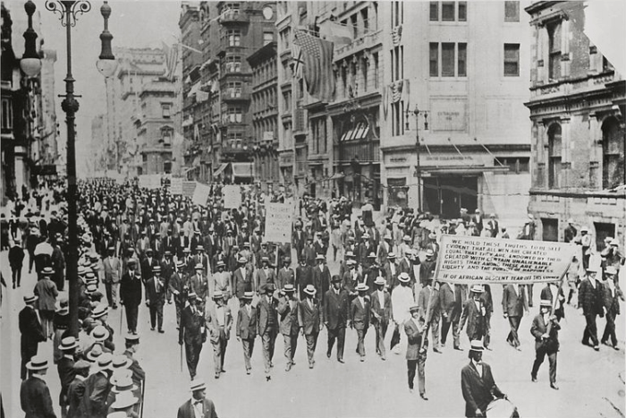 Silent Protest parade, New York City, July 28, 1917.