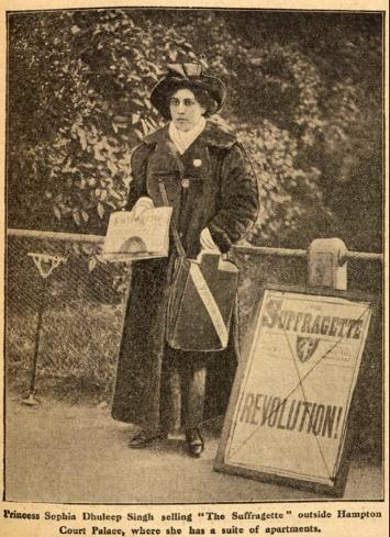 Sophia Duleep Singh Selling the Suffragette, 1913.
