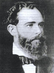 Born in Lobos, Argentina in 1847. Both his parents were Irish, arrived in America in 1830. As director of the Western Railway and the Buenos Aires Province Bank he established himself as a financial operator with access to European money. He died in 1906, revered in Buenos Aires, and hated in Montevideo.