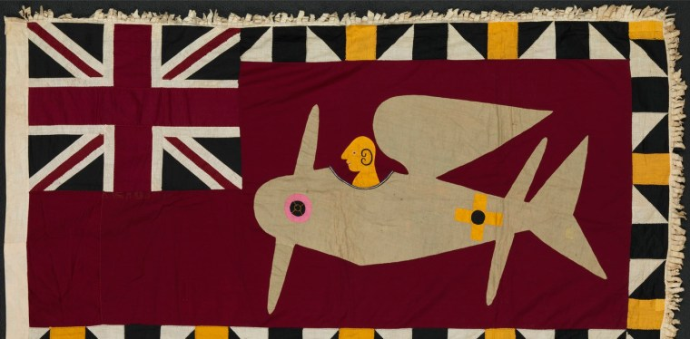 An Asafo flag made by the Fante artists of Africa's Gold Coast.
