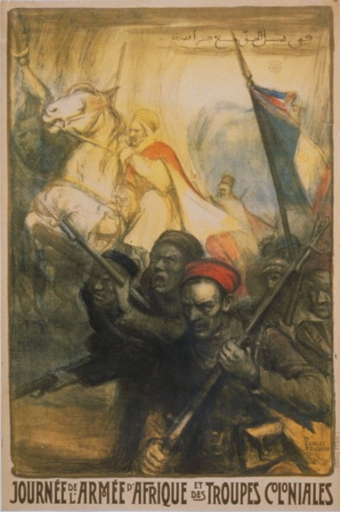 Poster of First-World-War French colonial troops. Courtesy of Asia-Pacific Journal.