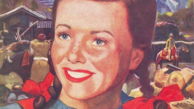 The cover art for Sue in Tibet shows a smiling girl, poised for adventure