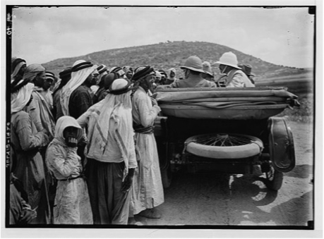 Samuel's arrival in Palestine, June 1920 (Prints and photographs division of the Library of Congress, Washington, D.C.)