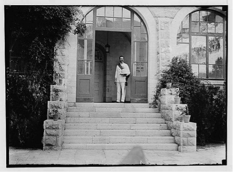 Samuel at August Victoria, July 1920 (Israel State Archives)
