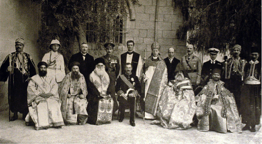 Samuel and Church leaders in Jerusalem, 1922 (Samuel, Memoirs (London, 1945))
