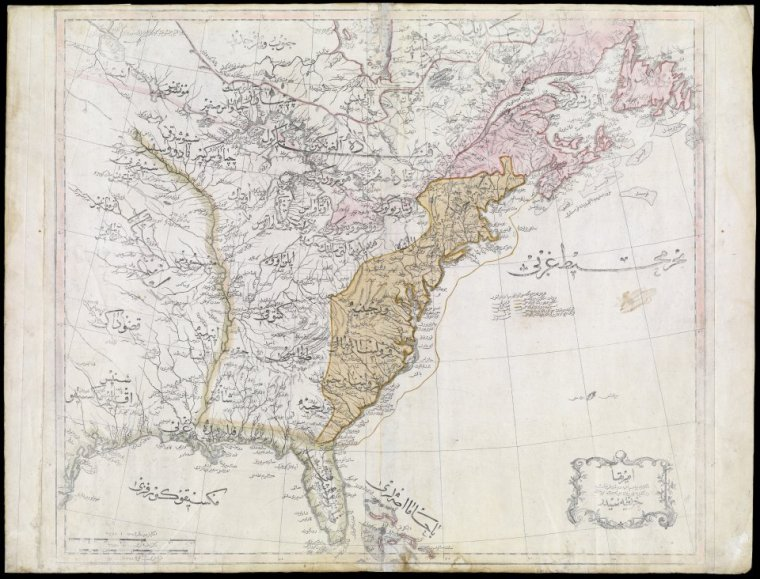 Map of the United States -- Title in Ottoman Turkish.] 1803. Courtesy of the Osher Map Library, University of Southern Maine.